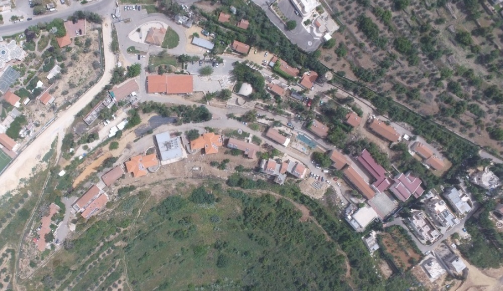 2016: Aerial photograph  of the youth village Kiriat Yearim